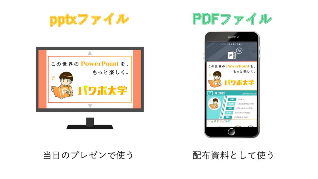 pptxファイルとPDFファイルの違い