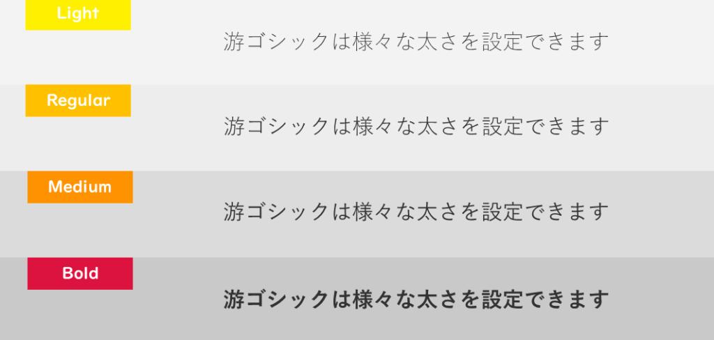 游ゴシックのイメージ画像