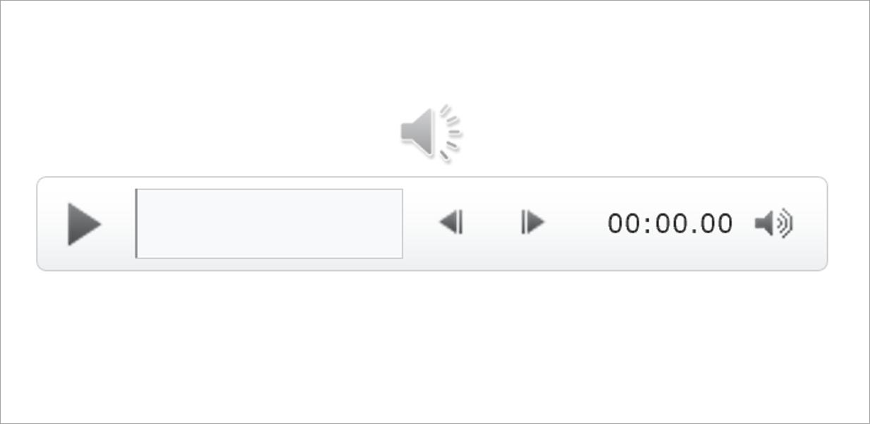 パワーポイントに音楽を流すアイコンが挿入される